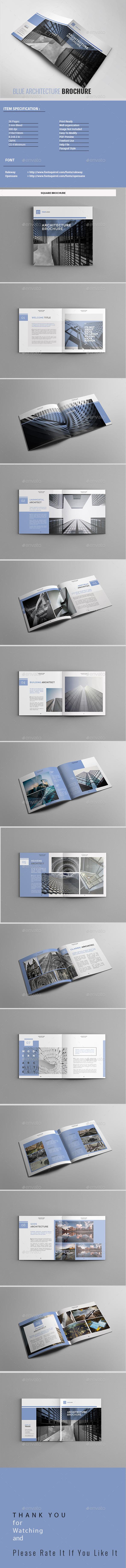 Blue Architecture Brochure - Portfolio Brochures