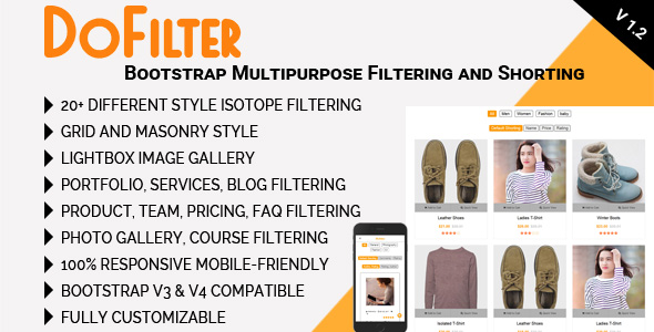 DoFilter - Bootstrap Multipurpose Filtering and Shorting Best Scripts
