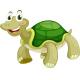 Set of Four Cartoon Turtles