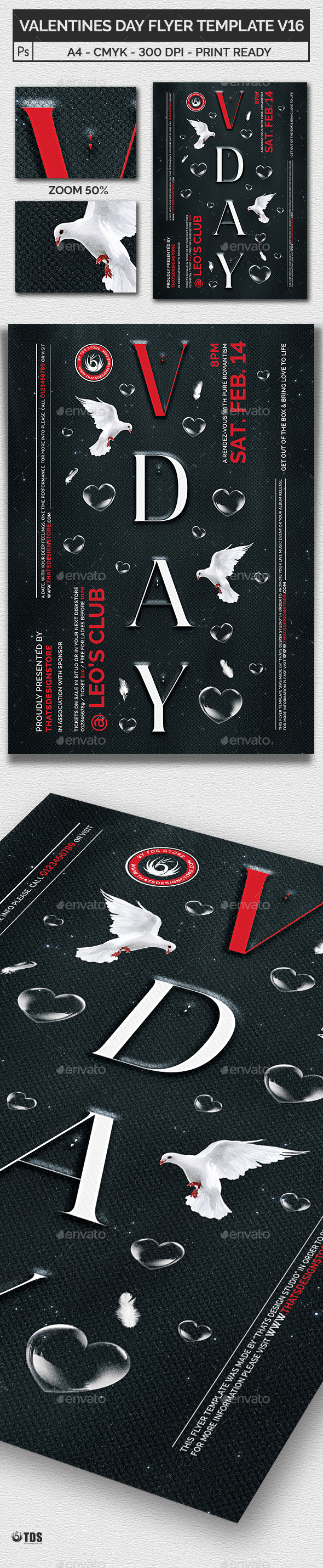 Valentines Day Flyer Template V16 - Clubs & Parties Events