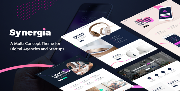 Image of Synergia - A Multi-Concept Theme for Digital Agencies and Startups