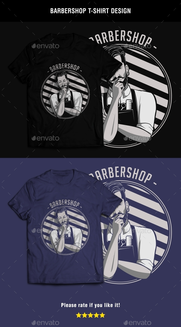 Barbershop T-Shirt Design - T-Shirts