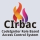 CIrbac - CodeIgniter Role Base Access Control System
