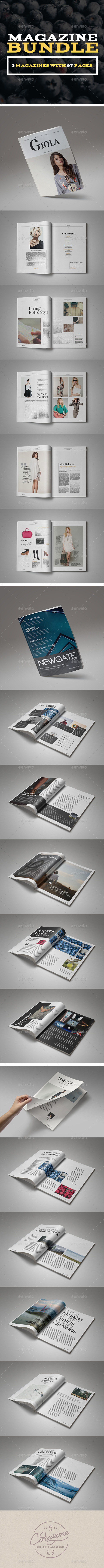 Magazine Bundle Vol.2 - Magazines Print Templates