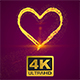 Beautiful Plexus Gold Heart For Valentines Day - VideoHive Item for Sale