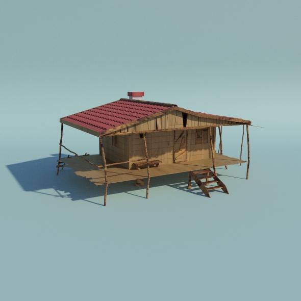 Old Hut - 3DOcean Item for Sale