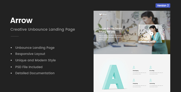 Image of Arrow | Creative Unbounce Landing Page