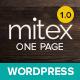 Mitex - One Page WordPress Theme