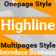 HighLine - One Page Parallax Responsive HTML5 Template