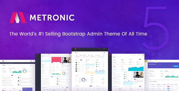 Metronic - Responsive Admin Dashboard Template Screenshot