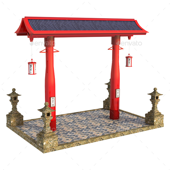 Japanese Structure Torii - Architecture 3D Renders