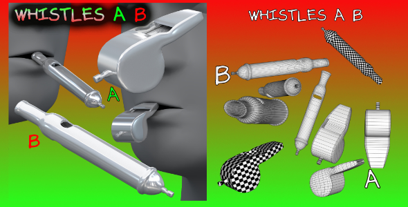 Whistles FBX_OBJ - 3DOcean Item for Sale