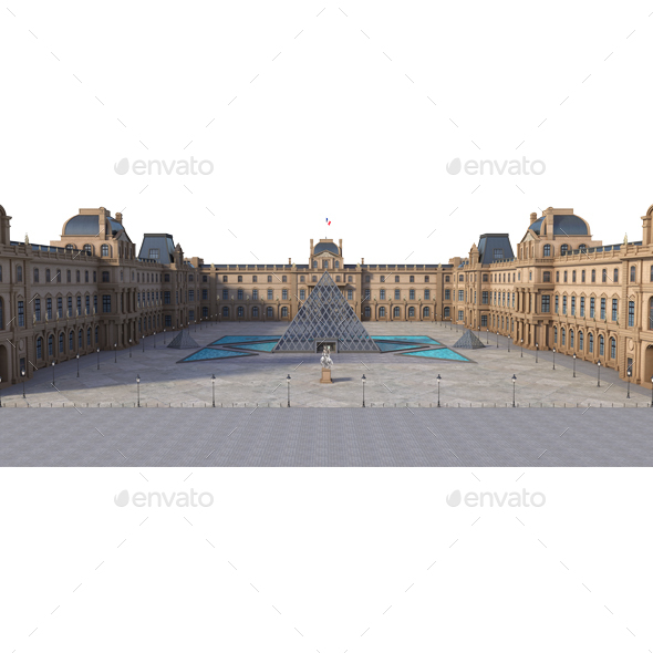 Louvre Museum - Architecture 3D Renders