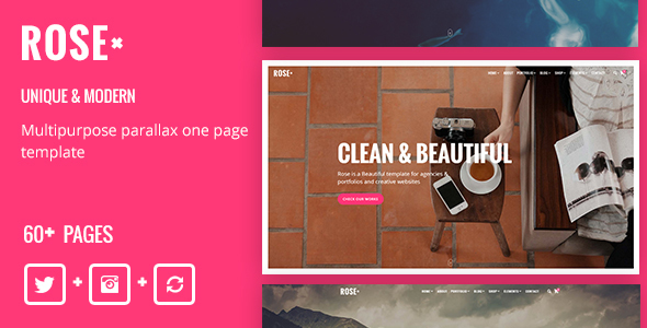Image of Rose - Multipurpose Responsive One Page Drupal 8 Theme