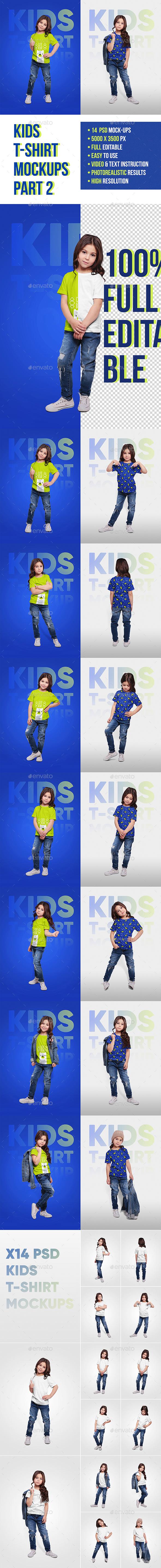 Kids T-Shirt Mockups. Part 2 - T-shirts Apparel