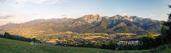 Inspiring Mountains Landscape Panorama, beautiful summer in Tatr - Stock Photo - Images