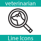 Veterinarian Line Icons - GraphicRiver Item for Sale
