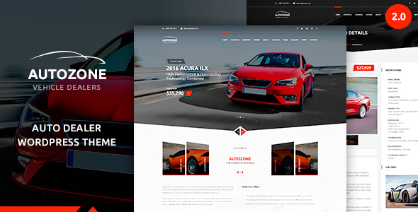 Autozone - Automotive Car Dealer - Corporate WordPress