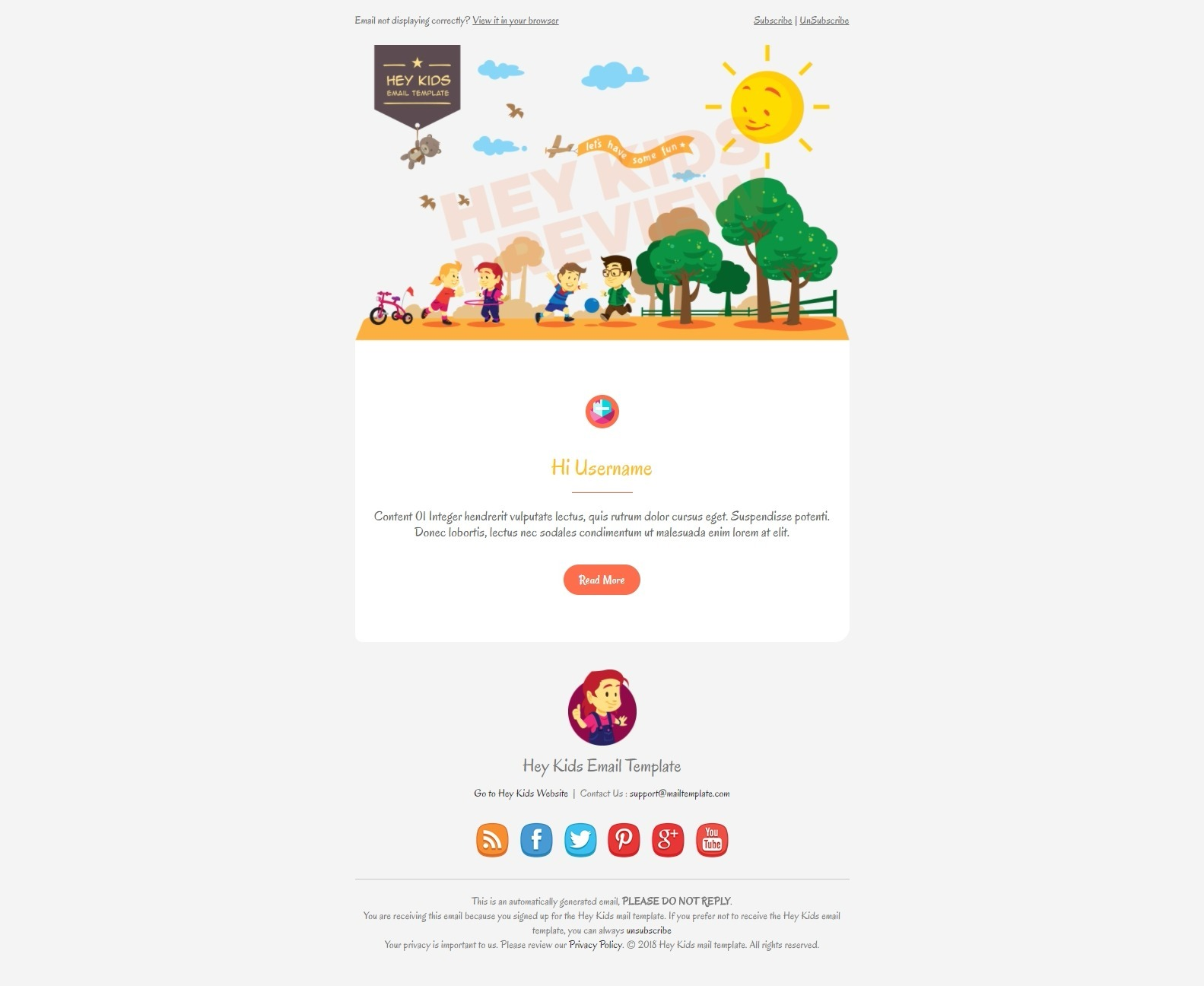 support email template