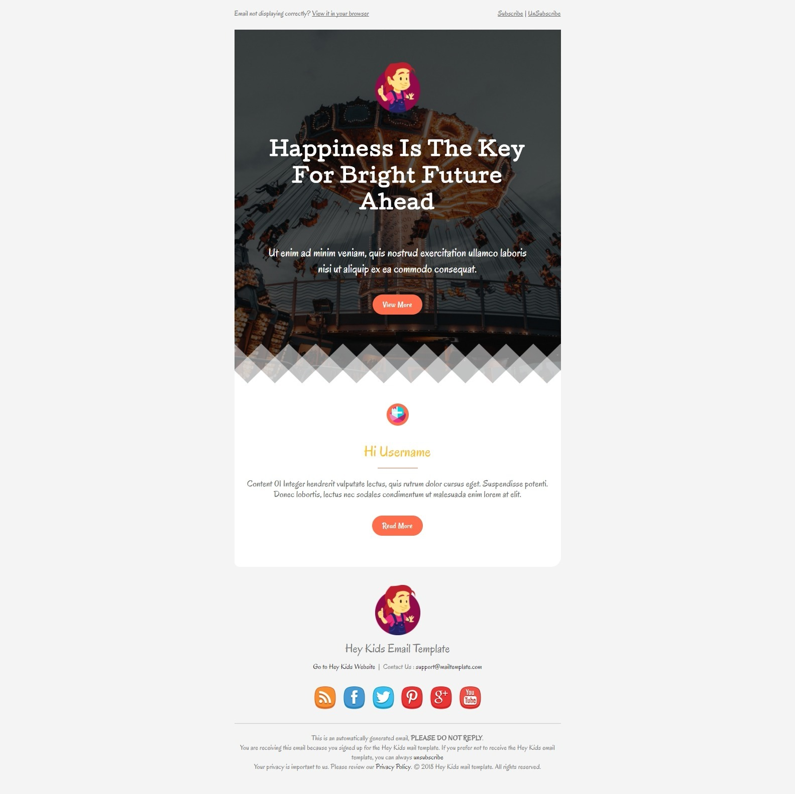 Hey Kids Email Template By Bnrcreativelab ThemeForest - Email ad template