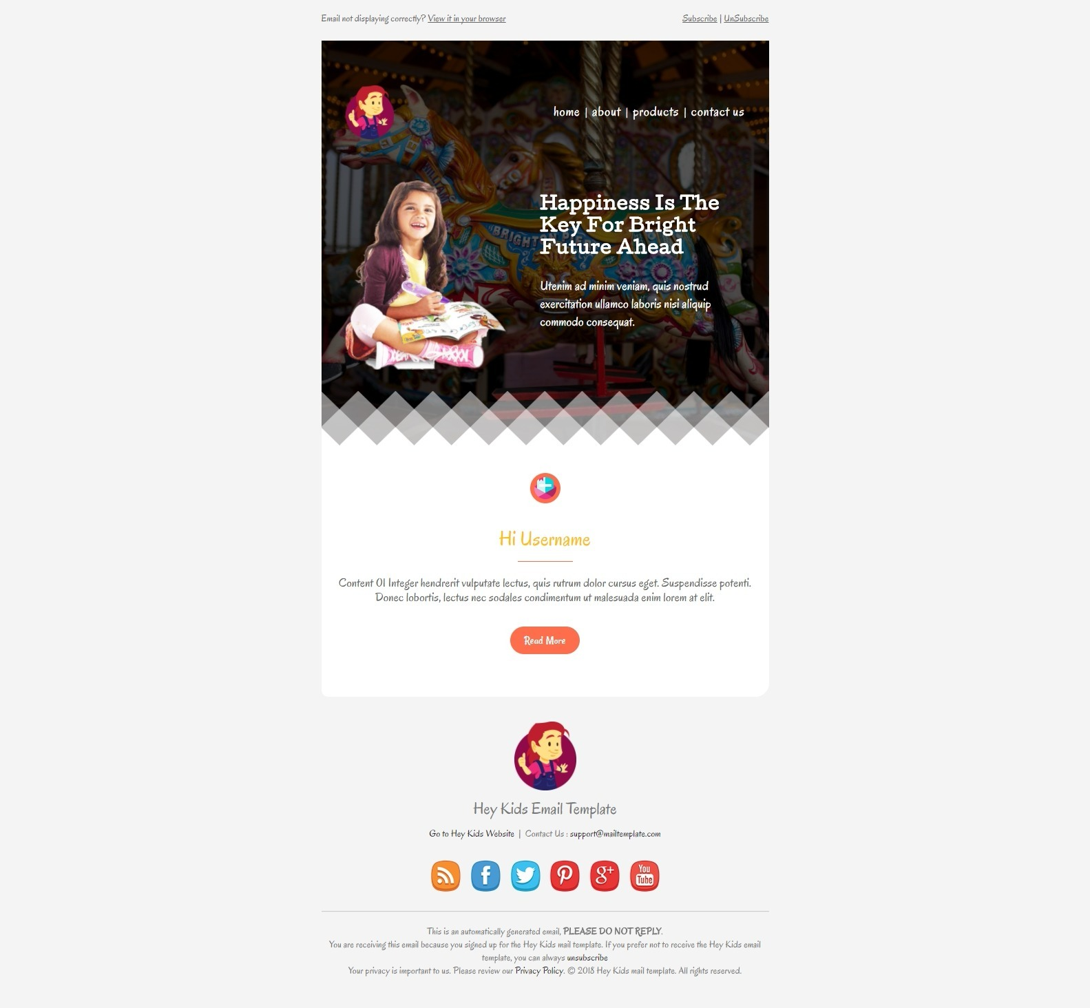 business meeting invitation email template%0A Hey Kids  Email Template by bnrcreativelab   ThemeForest