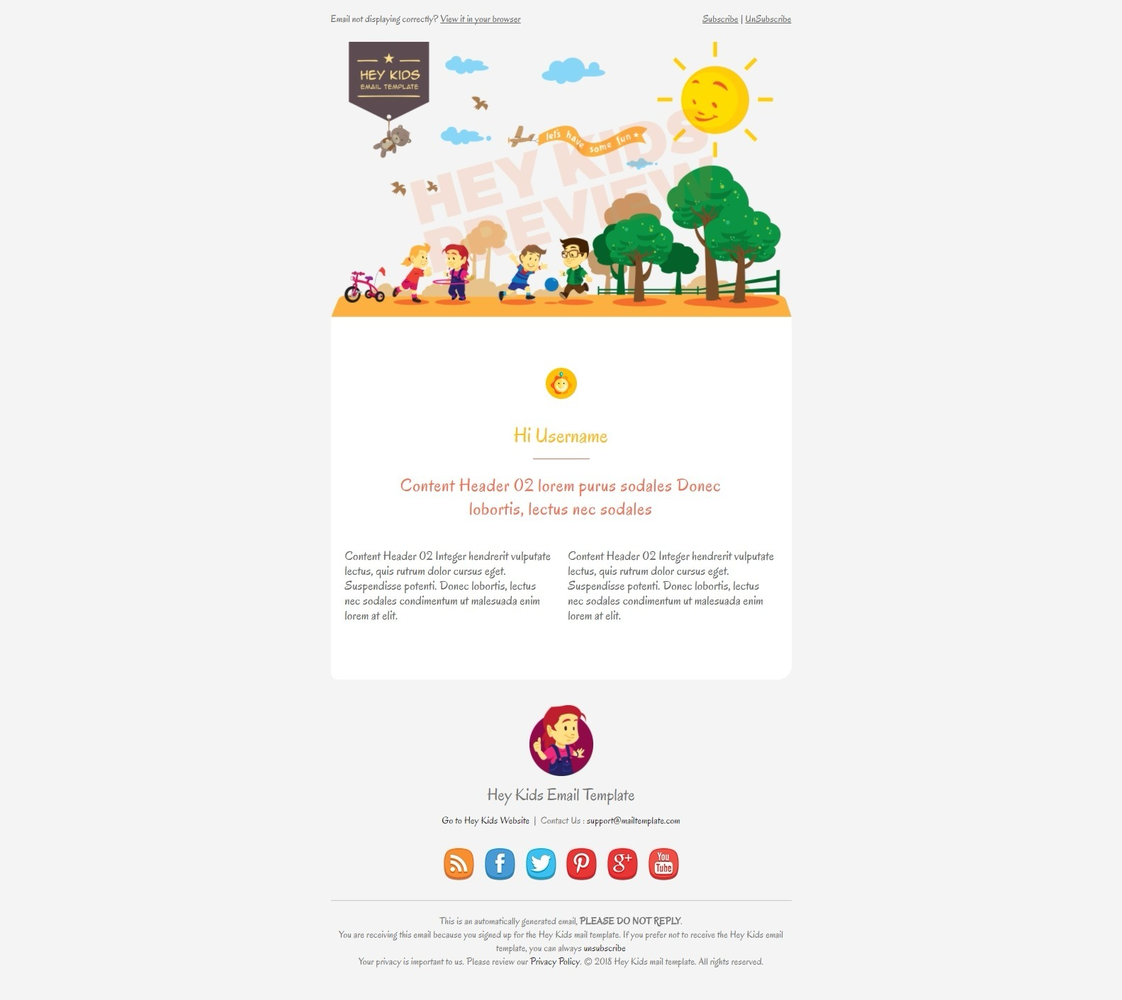 Hey kids email template by bnrcreativelab themeforest previewgreetingg m4hsunfo