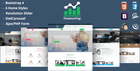 Image of FinanceTop – Consulting, Business, Finance Template