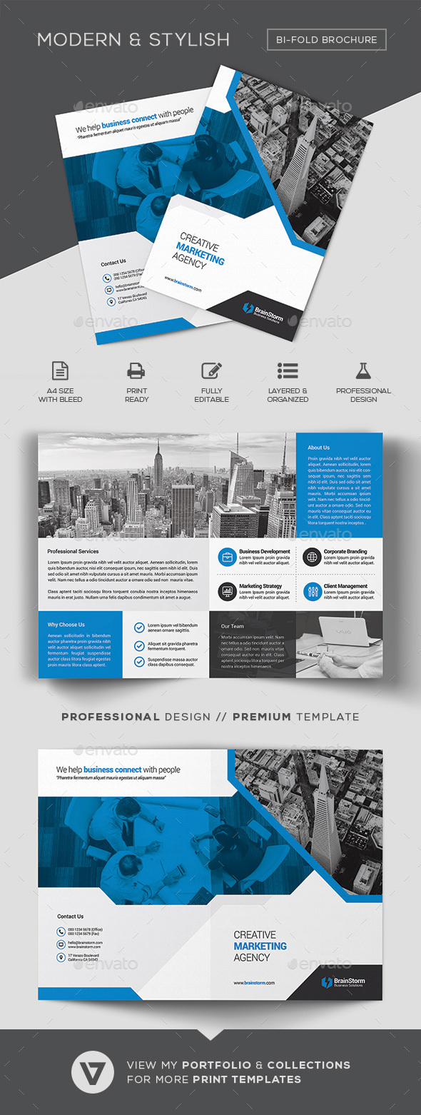 Bifold Brochure Template - Corporate Brochures
