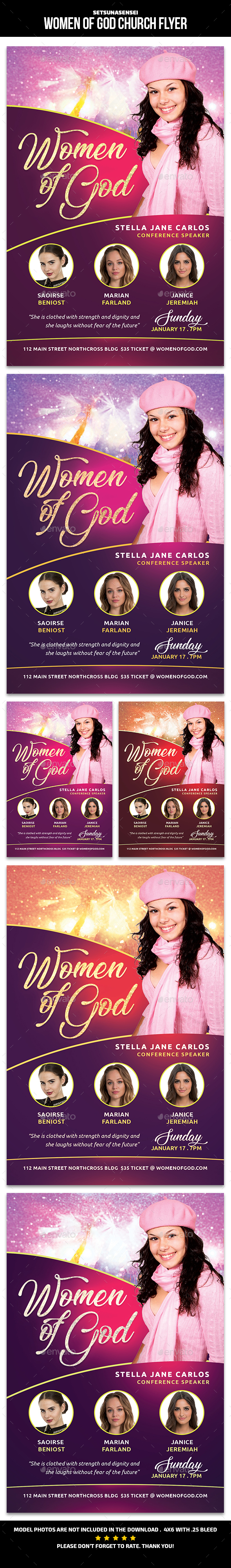 Women of God Church Flyer - Church Flyers