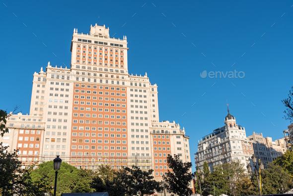 The Edificio Espana in Madrid, Spain - Stock Photo - Images