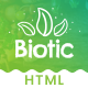 Biotic - Organic Food / Products HTML Template - ThemeForest Item for Sale