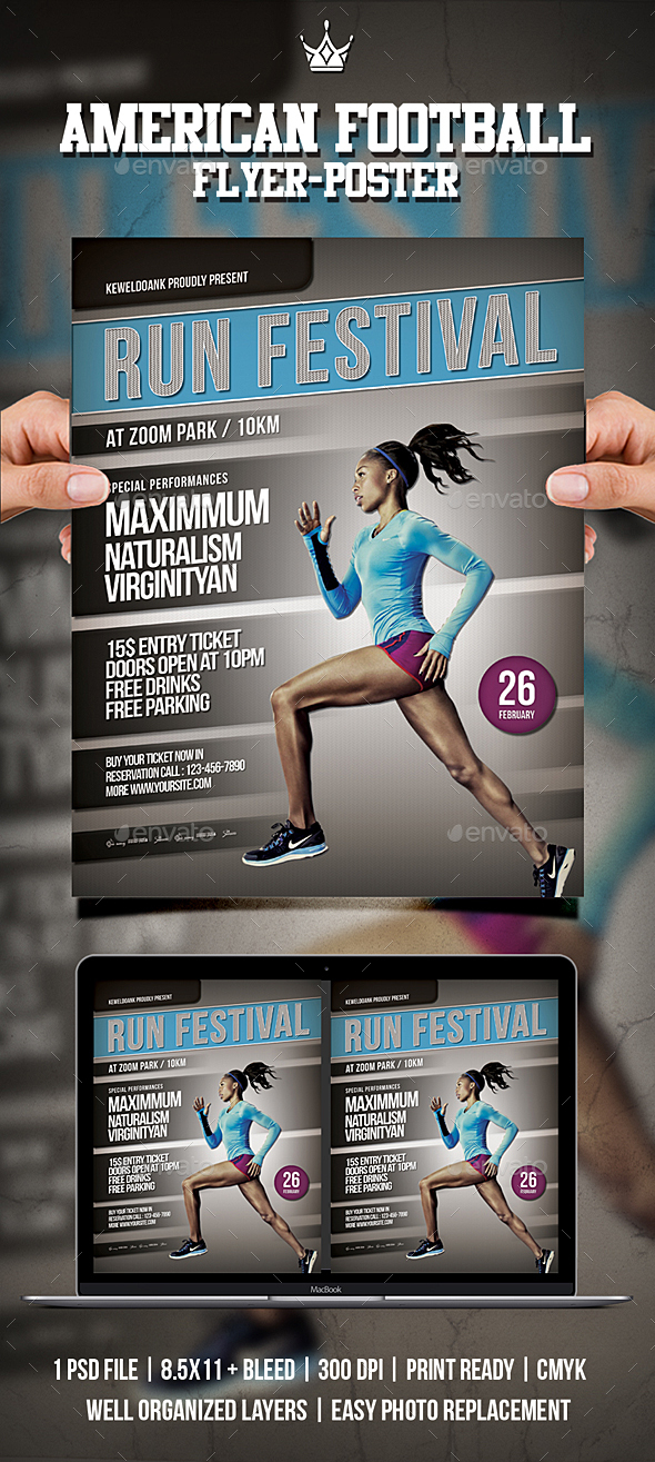 Run Festival Flyer / Poster - Sports Events