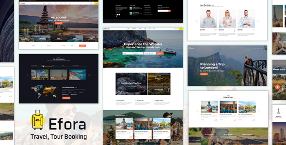 Efora - Travel, Tour Booking and Travel Agency WordPress Theme
