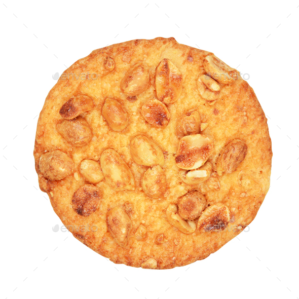 Homemade cookie with peanuts - Stock Photo - Images