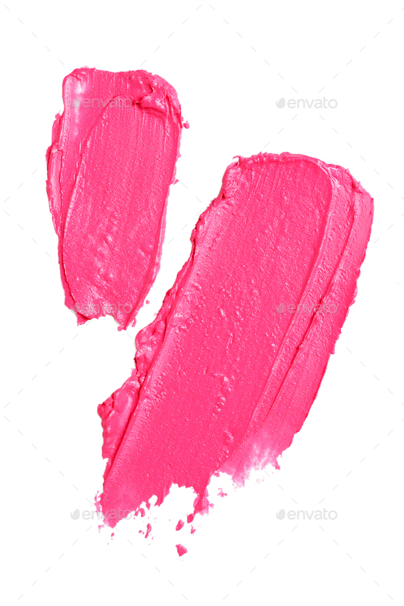 Smear paint of lipstick - Stock Photo - Images