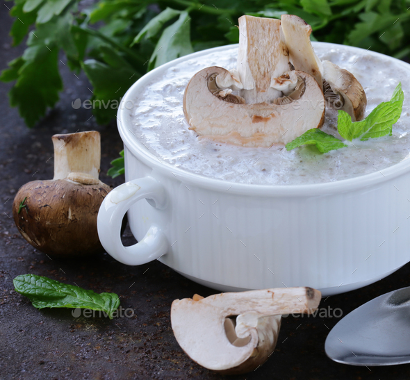 Mushroom Soup - Stock Photo - Images