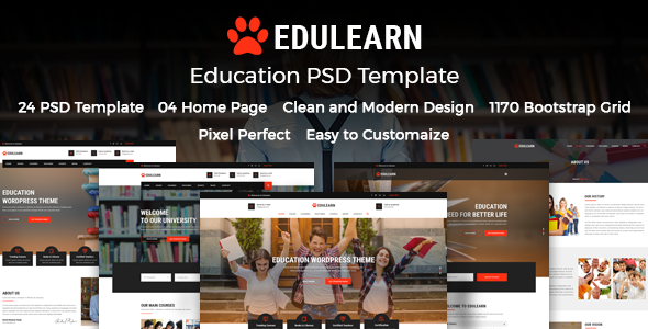 ThemeForest Edulearn Education Education PSD Template 21123766