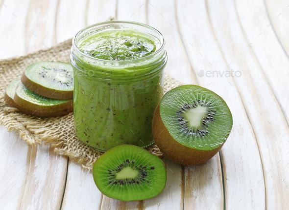 Jam from Kiwi - Stock Photo - Images