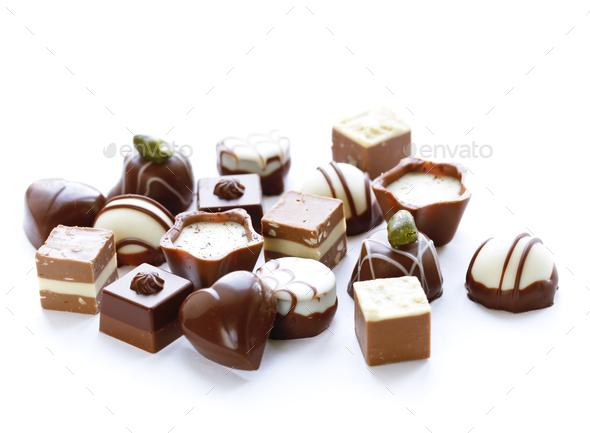 Assorted Chocolates - Stock Photo - Images