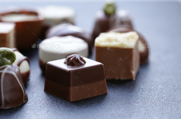 Assorted Chocolates - Stock Photo - Images
