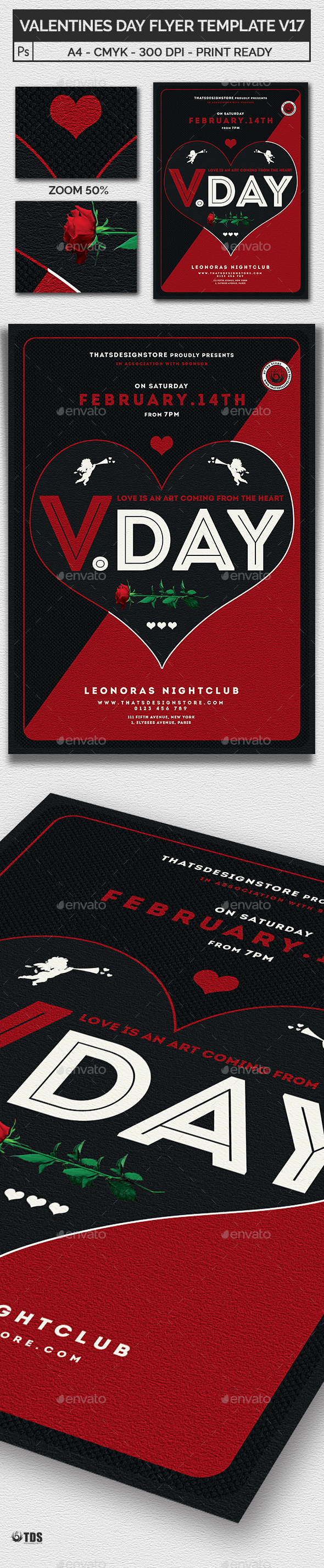 Valentines Day Flyer Template V17 - Clubs & Parties Events