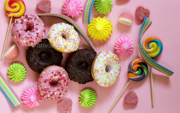 Sweet Donuts  - Stock Photo - Images
