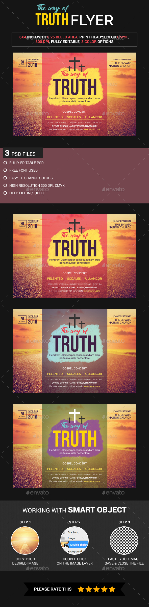 The Way Of Truth Flyer - Church Flyers