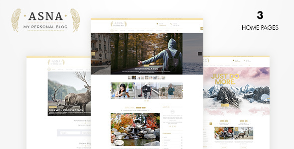 Asna | Creative Blog - Blog / Magazine WordPress