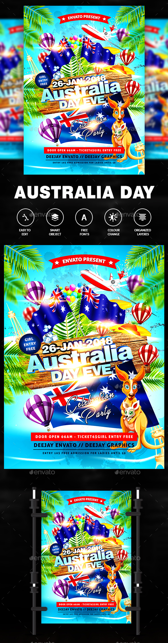 Australia Day Flyer - Flyers Print Templates