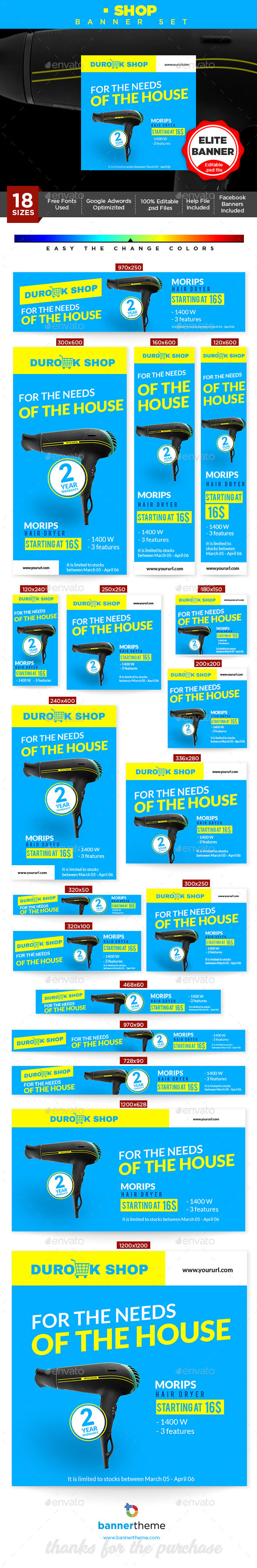 Shop Banner - Banners & Ads Web Elements