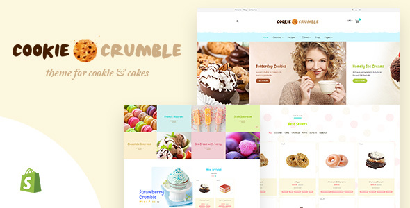 Cookie Food | Bakery, Cookie, Food Products Shopify Theme