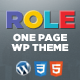 Role Portfolio | One Page Portfolio WordPress Theme - ThemeForest Item for Sale