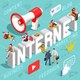 Internet Content Marketing Banner Vector - GraphicRiver Item for Sale