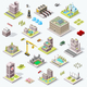 Isometric City Building Icons - GraphicRiver Item for Sale